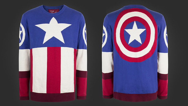 Official Marvel Captain America Christmas Jumper Ugly Sweater