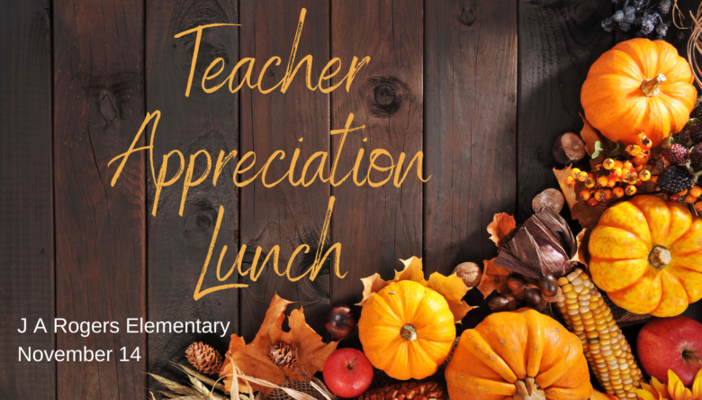 Appreciation Lunch at J A Rogers: November 14 - Volunteers Needed!