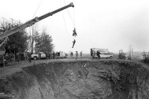 Recovery efforts underway in 1982 at Ore Knob Copper Mine