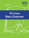 30-Lesson Bible Overview Leader Guide - Enduring Faith Confirmation Curriculum - Downloadable