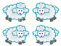 Lamb Stickers (Pack of 96)