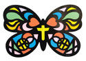 Stained Butterfly Craft (Pack of 12) - VBS 2021