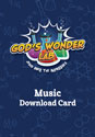 God's Wonder Lab Music Download Card - VBS 2021