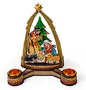 Advent Nativity with Arch Candle Holder, 6.25