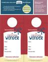 A Christmas Wonder Door Hangers (Downloadable)