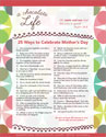"A Chocolate Life ""25 Ways to Celebrate Mother's Day"" (Downloadable)"