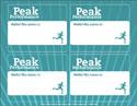 Peak Performance Nametag Template (Downloadable)