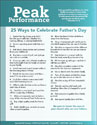 "Peak Performance ""25 Ways to Celebrate Father's Day"" (Downloadable)"