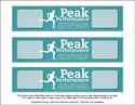 Peak Performance Water Bottle Label (Downloadable)