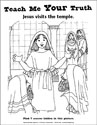 Teach Me Your Truth Coloring Page - Jesus in the Temple (Downloadable)