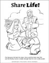 Share Life! Coloring Page - Jesus Feeds 5000 (Downloadable)
