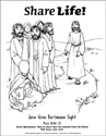 Share Life! Coloring Page - Jesus Gives a Blind Man Sight (Downloadable)