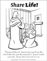 Share Life! Coloring Page - Doubting Thomas (Downloadable)