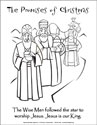 The Promises of Christmas Coloring Page - Wise Men (Downloadable)