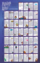 Return to the Lord: Lent and Easter Family Calendar (Pack of 50)