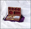 4-Cup Pastor's Walnut Communion Set