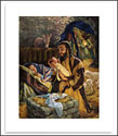 "Birth of Jesus Poster, 14"" x 18"" - Bladholm"