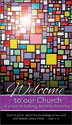 Communication Card: Welcome to Our Church (Pack of 50)
