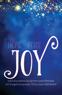 Standard Advent Bulletin: Joy (Pack of 50)