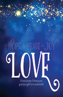 Standard Advent Bulletin: Love (Pack of 50)