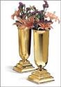 "8"" Brass Vases - Pair"