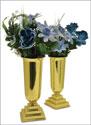 "11"" Brass Vases"