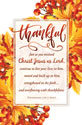 Standard Thanksgiving Bulletin: Thankful  - Col 2:6–7 (NIV)