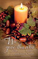 Standard Thanksgiving Bulletin: Give Thanks Col 1:3