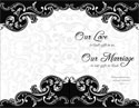 Standard Wedding Bulletin: Our Love...Our Marriage