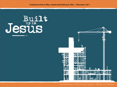 Built up in jesus powerpoint template downloadable toneelgroepblik Choice Image