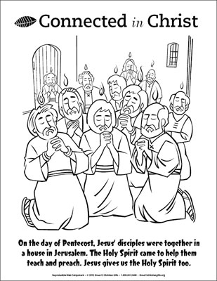 Connected in Christ Coloring Page Pentecost Downloadable