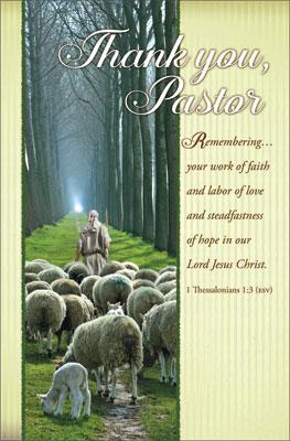 Standard Pastor Appreciation Bulletin: Thank you Pastor