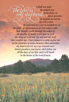 Standard Funeral Bulletin The Lord Is My Shepherd