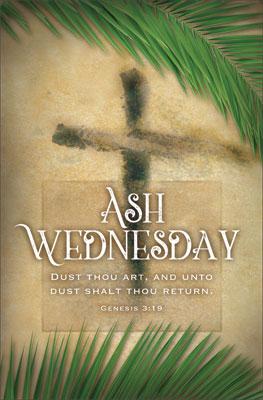 Standard Ash Wednesday Bulletin Dust Thou Art