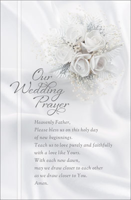 Standard Wedding Bulletin Our Wedding Prayer