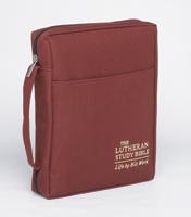The Lutheran Study Bible Cover - Sangria - Larger Print