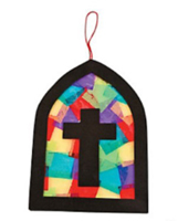 Vitral de colores de papel tisú (Tissue Paper Stained Glass Window) (Pack of 12)