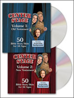 Center Stage Old and New Testament Bible Story Skits 2-CD Pack