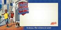 Mighty Fortress Indoor/Outdoor Banner (8' x 4') - VBS 2017