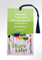 Share Life! Bookmark with Tassel