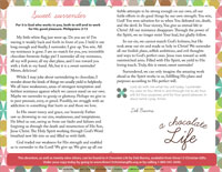 A Chocolate Life Devotion Bulletin Insert (Downloadable)
