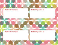 A Chocolate Life Nametag Template (Downloadable)