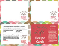 a chocolate life recipe card template downloadable