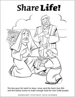 Share Life Coloring Page