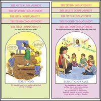 God's Ten Commandments Poster Set