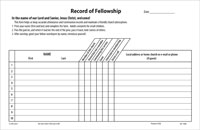 Record of Fellowship Pads (Pkg of 10)