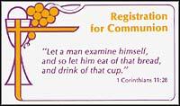 Communion Registration Cards (Pkg of 500)