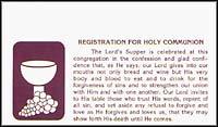 LCMS Communion Registration Cards (Pkg of 500)