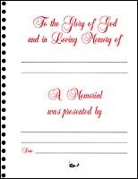 Memorial Book Sheets