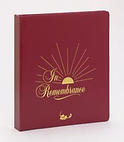Memorial Book - Sun Ray Design